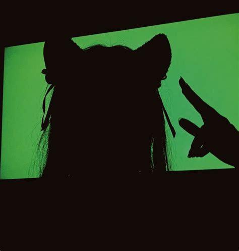 green cat girl       green devil aesthetic