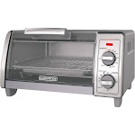 Black+decker TO1700SG Stainless Steel 4 Slice Toaster Oven, Gray