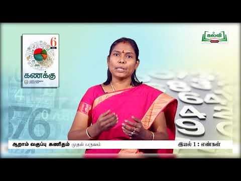 6th Maths எண்கள் எண்களின் மதிப்பீடுகள் அலகு 1 Kalvi TV