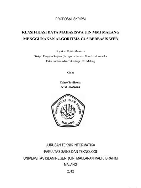 Contoh Cover Proposal Penelitian Kumpulan Contoh Makalah Doc Lengkap
