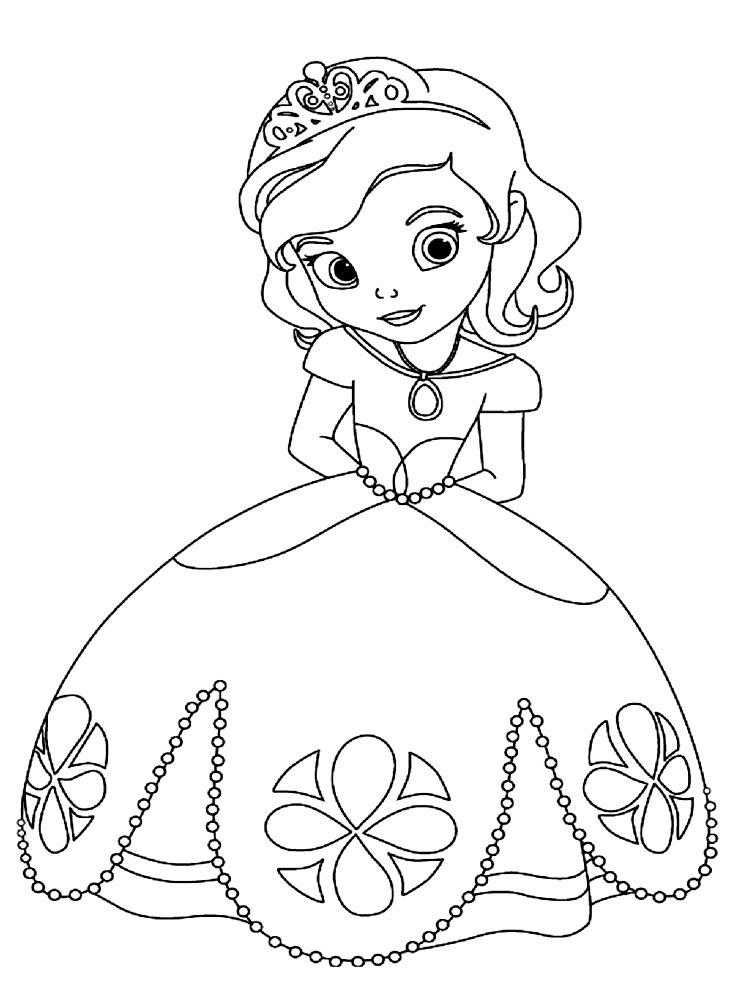 Dibujos Para Colorear La Princesa Sofia
