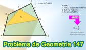 Problema de Geometría 147. Cuadrilátero, Área, Puntos medios de tres lados.