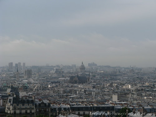 Paris skyline from Montmartre