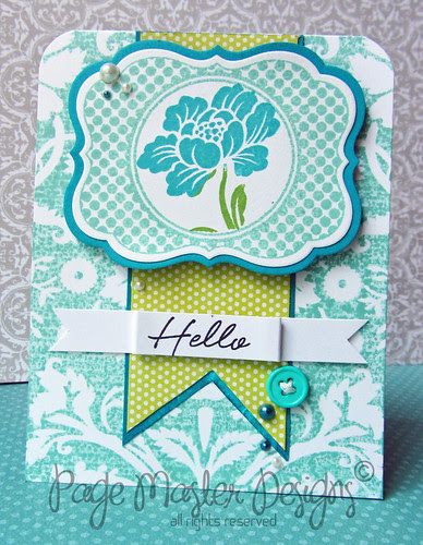 Teal lime hello