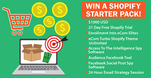 Win The ULTIMATE Shopify Starter pack! Contest Closing Soon!