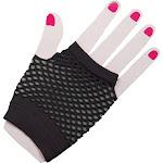 Fingerless Fishnet Black Gloves