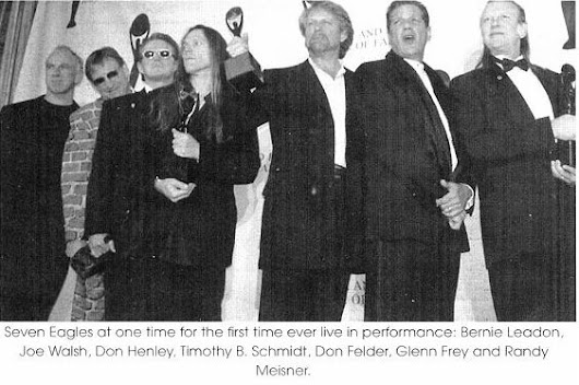 1998: Eagles inducted into the Rock'n'Roll Hall of Fame