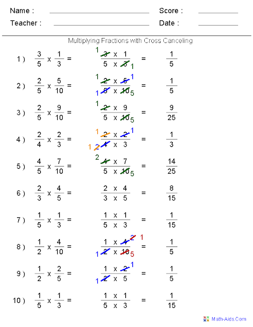 Multiplication Of Fractions Worksheets With Answers Scalien – Multiplying Fractions Worksheets with Answers