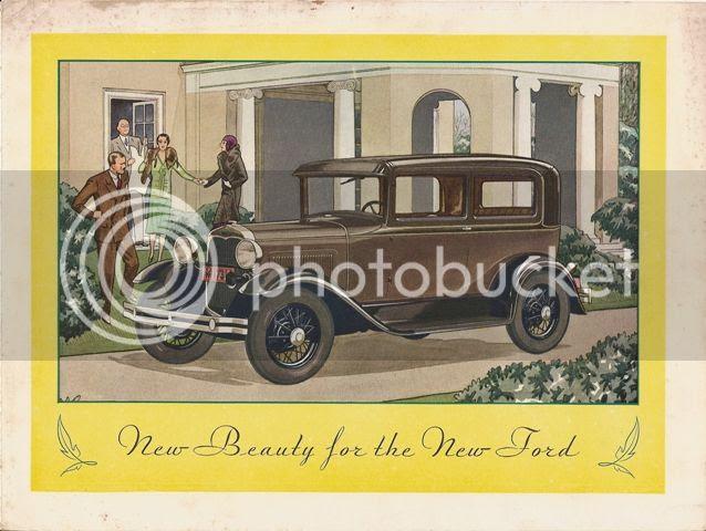 Ford Model A Deluxe Tudor Sedan 1930