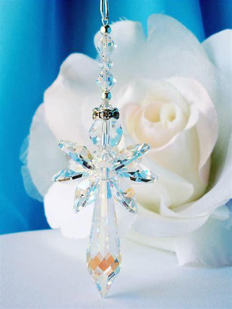 Crystal Angel Suncatcher Car Charm   Crystal Blue Designs