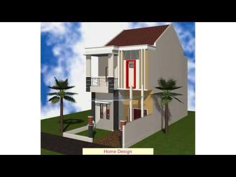 simak desain rumah minimalis modern 2 lantai type 36