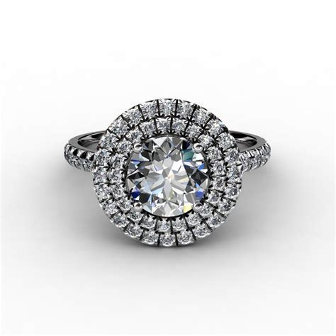 Soleste Double Halo Engagement Ring
