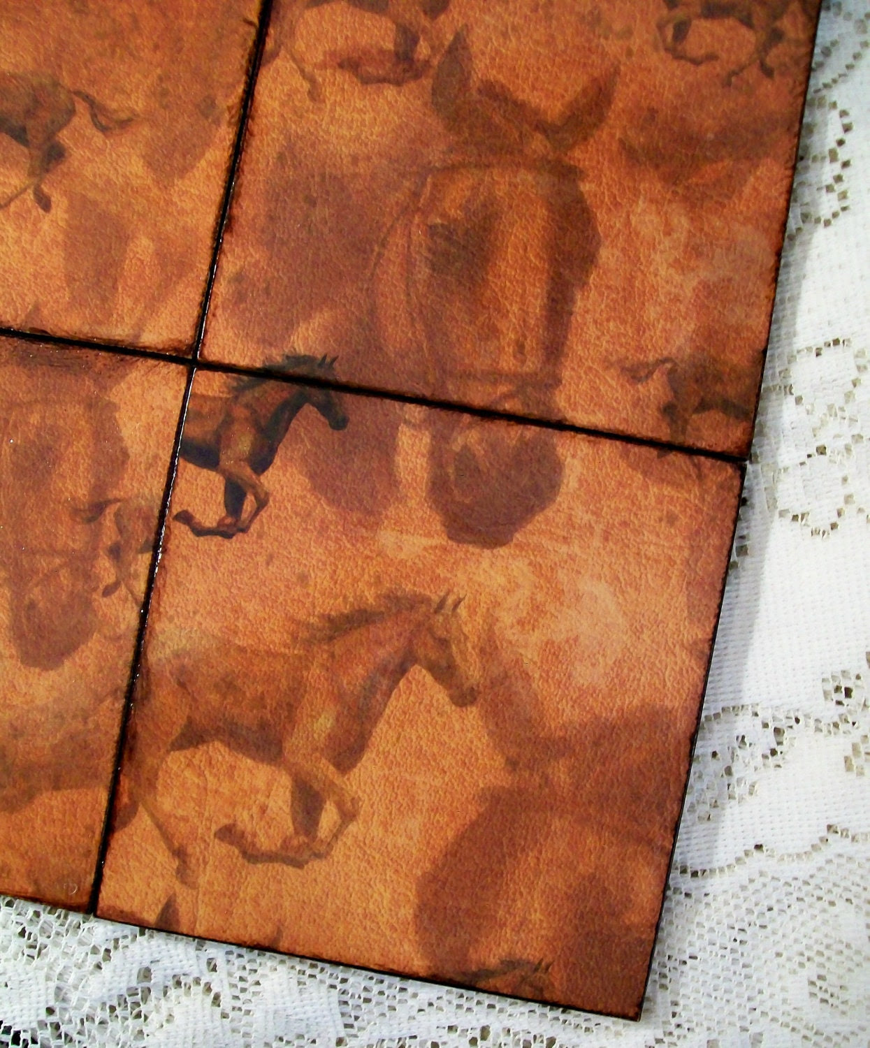 Coasters Country Western Decoupaged Horse Gift Coasters