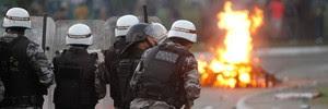 BA: confronto marcou protesto (Edgar de Souza/Arquivo pessoal)