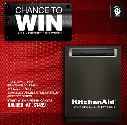Lastman's Bad Boy Contest: Win a KitchenAid black stainless dishwasher worth $1499