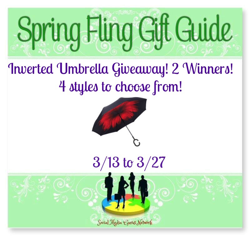 Enter the Inverted Umbrella Giveaway. Ends 3/27. 2 winners.