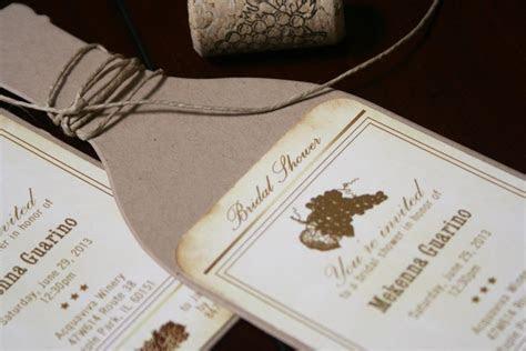 Wine Bottle Bridal Shower Invitations   Too Chic & Little