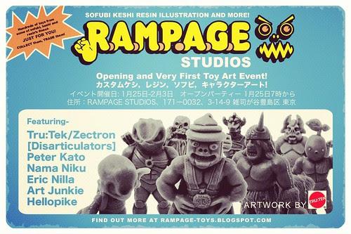 RAMPAGE STUDIOS DEBUT EVENT!