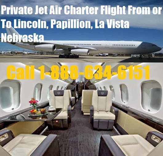 Private Jet Air Charter Flight Lincoln, Papillion, La Vista, NE near me
