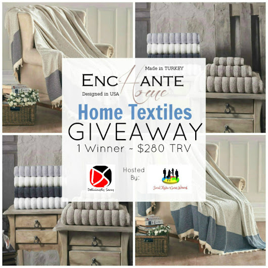 The Enchante Home Textiles Giveaway! 1 Winner ~ $280 RV [Ends 8/17] @enchantehomeNY @SMGurusNetwork