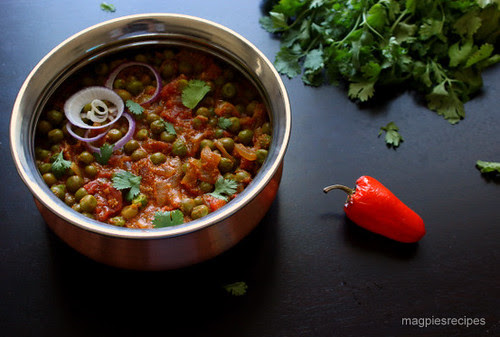 Tomato and Peas curry