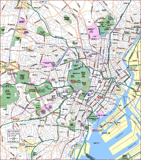 Map of tokyo usa map guide 2016 map of tokyo gumiabroncs Choice Image