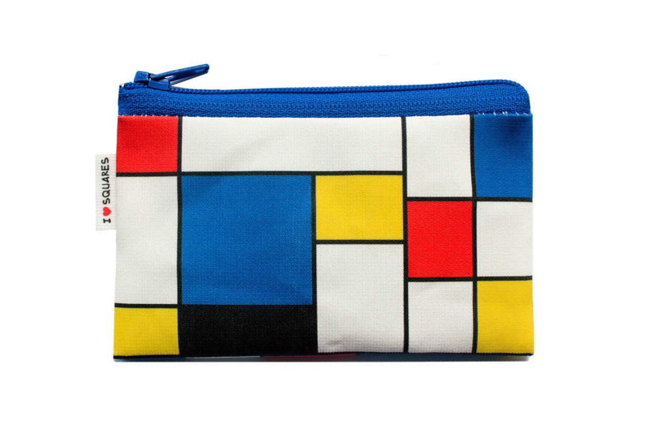 RED BLUE YELLOW squares printed Wallet