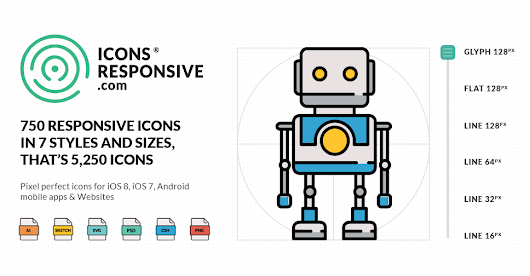 Responsive Icons for IOS8 Android - Download Free Icons Pack