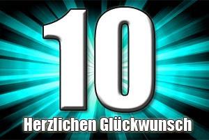 10 Geburtstag Glückwünsche