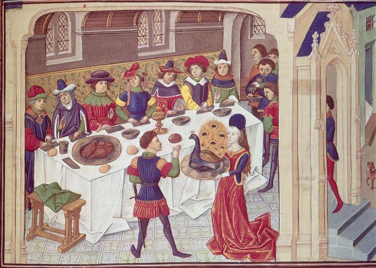 Image result for medieval scholars dining