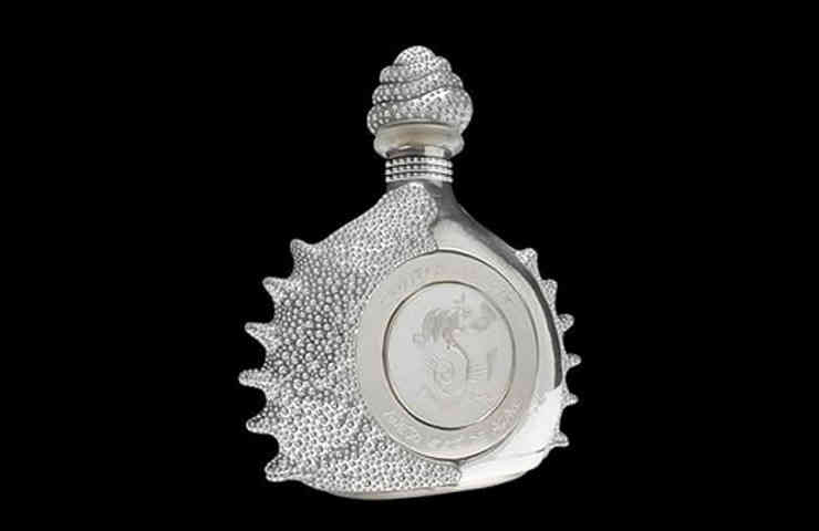 Destaque Pasion azteca platinum liquor bottle by tequila ley .925