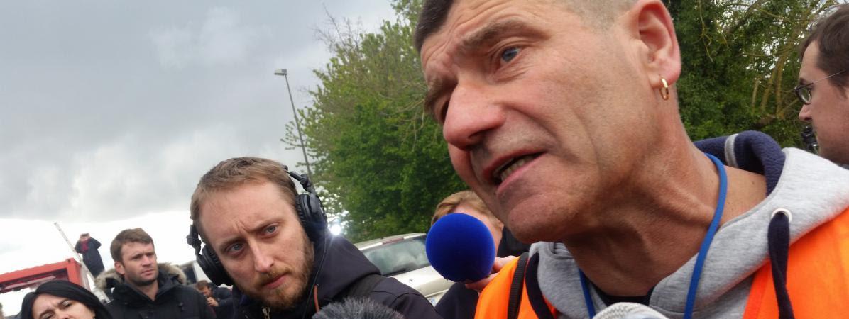 Patrice Sinoquet,représentant syndical de la CFDT et secrétaire du CHSCT de l\'usine Whirlpool Amiens, mercredi 26 avril.