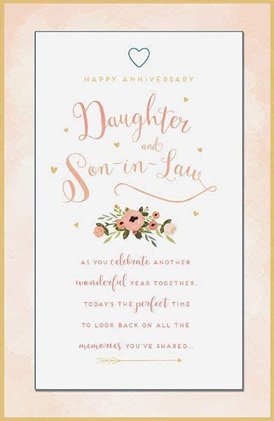 Daughter & Son in Law Anniversary Card