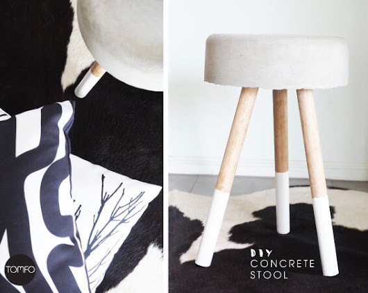 DIY Concrete Stool/bedside table-Tomfo | TOMFO