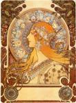 Alphonse Mucha.  Zodiac.
