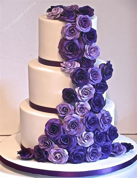 25  best ideas about Purple Wedding Cakes on Pinterest