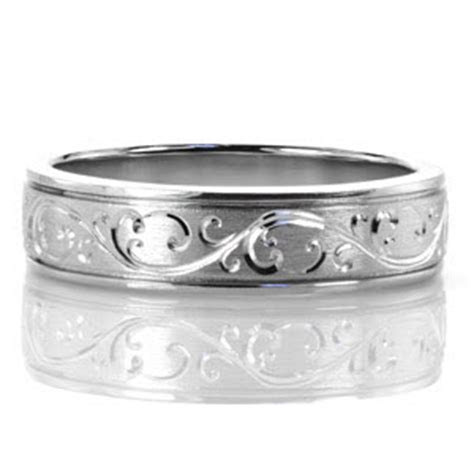 North Shore Hand Engraved Scroll   New Wedding Bands
