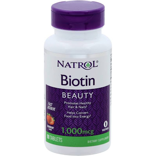 Natrol Biotin, 1000 mcg, Fast Dissolve, Tablets, Strawberry Flavor - 90 tablets