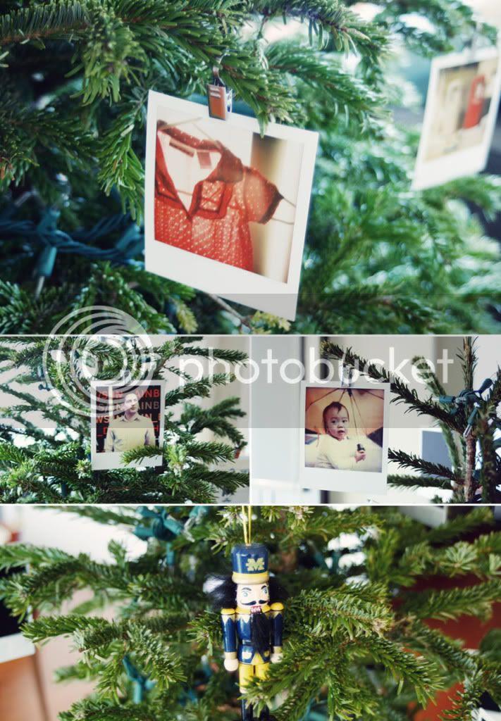 polaroidbilder på juletreet :: old brand new