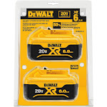 DeWalt DCB206-2 20V Max XR 6.0Ah Lithium Ion Battery 2-Pack
