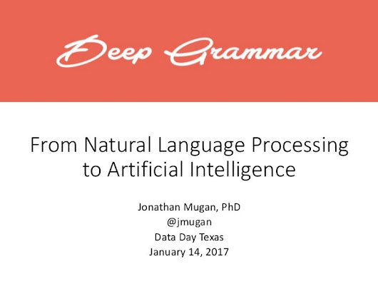 From Natural Language Processing to Artificial Intelligence