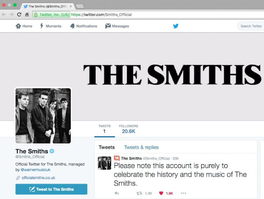 The Smiths are now on Twitter thanks to Warner Music