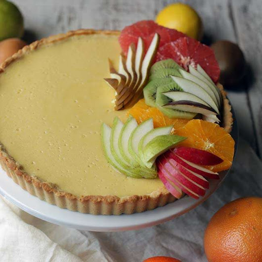 Lemon Curd Recipe with Almond Crust and Winter Fruit