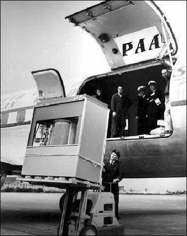Transporting a computer in 1956