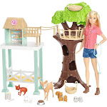 Barbie Animal Rescuer Doll Woodland Forest Rescue Care Center Shelter & Playset by VM Express