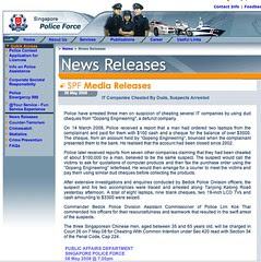 Singapore Police Force - Media Information Centre