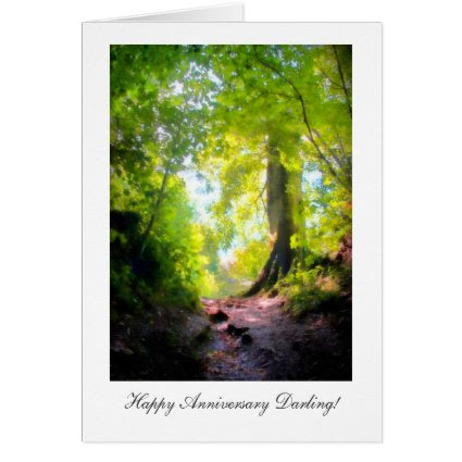 The path seems steepest, Happy Anniversay Darling Card