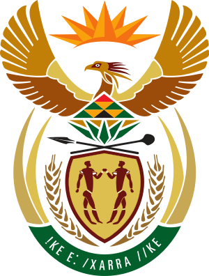 The coat of arms of South Africa adopted on Ap...