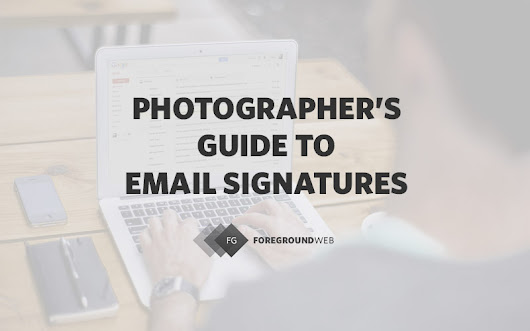 The photographer's guide to email signatures | FG Blog