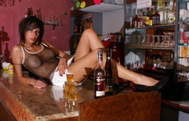 Selling point: 'If the guys come here what can I do. I know I have upset the women but that's not my problem,' said the bar owner